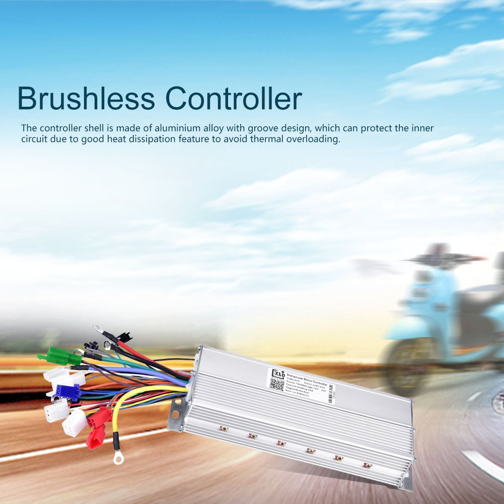 Brushless Motor Controller, 60V 1500W Brushless Scooter E-bike Controller Bike Accessory by Alomejor (Image #9)