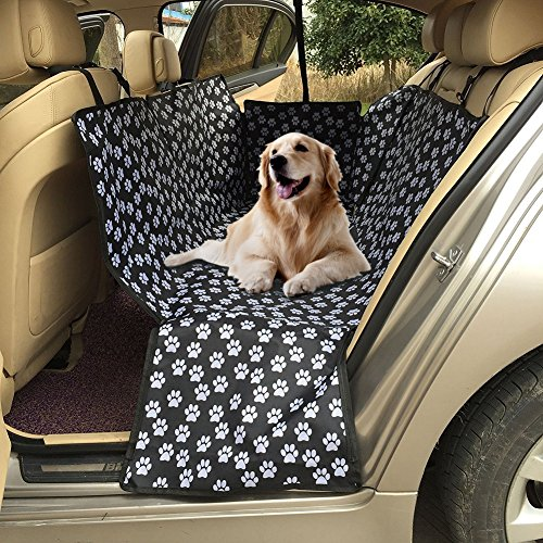 Dog Seat Cover for Cars, Car Seat Cover for Pets with Side Flaps Waterproof Scratch Proof Nonslip Backing Durable Backseat Protection Pad for Cars Trucks and SUVs