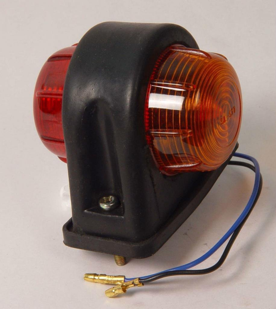2x amber red Round SIDE MARKER LIGHTE approved with bulb india