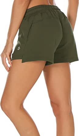 Melpoint Workout Shorts for Women - Athletic Lounge Gym Running Hiking Jogging Sport Sweatpant Shorts with Pockets