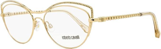 Roberto Cavalli Black Round Eyeglass Case