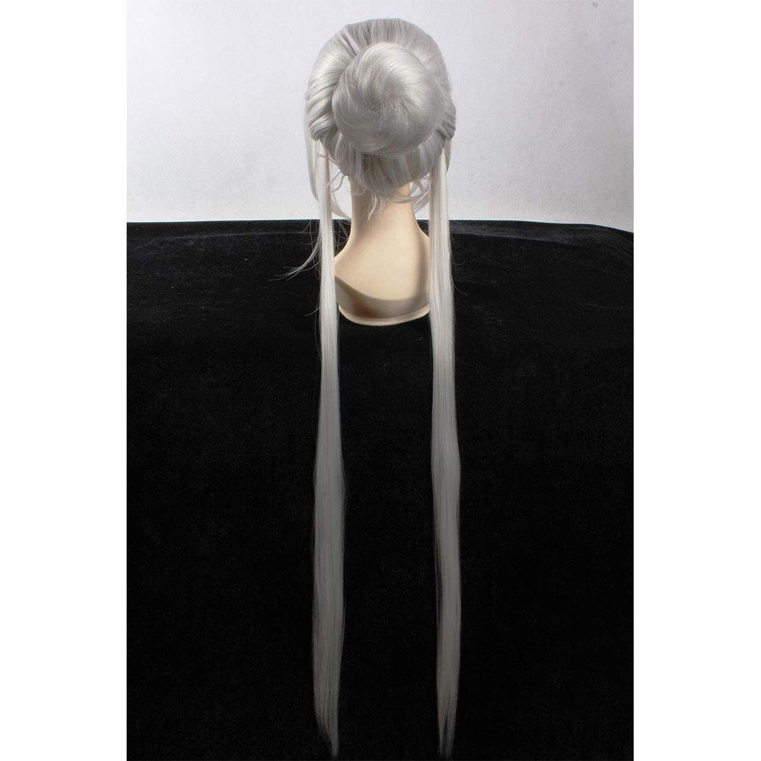 Amazon Com Hoolaza Silver White Long Layered Wig Kung Fu Panda 2 Lord Shen For The Halloween Party Cosplay Wigs Beauty