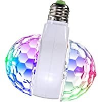 NEXGADGET Luz LED Giratoria de Ambiente Festivo Decorativo Multicolor, Lámpara de Forma de Doble Bola de Mini Etapa para Hogar Fiestas Navidad etc