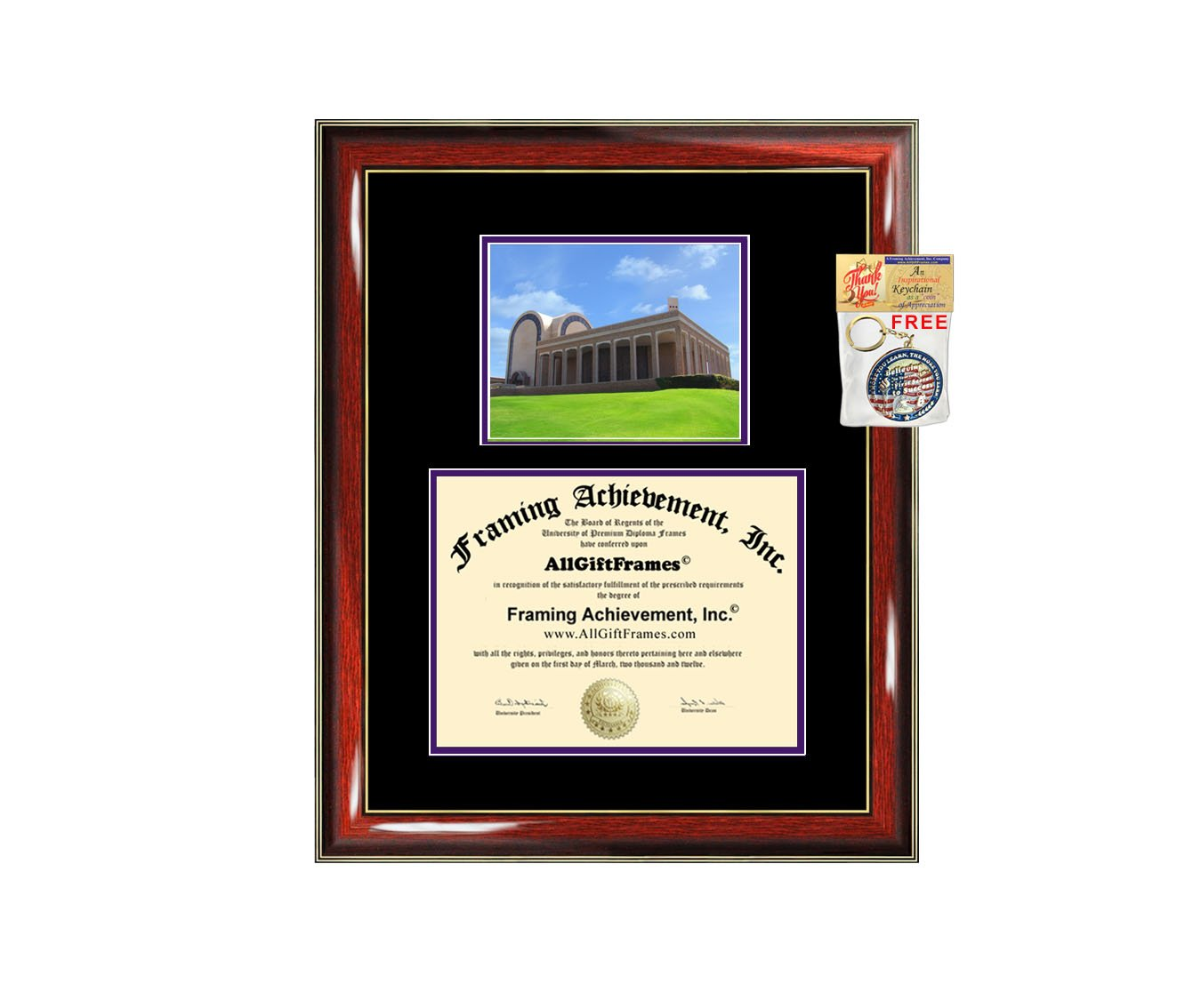 Abilene Christian University Diploma Frame ACU Graduation Degree Frame - Matted Campus College Photo Graduation Certificate Plaque Double Matting Framing Graduate Gift Document Case Holder by AllGiftFrames