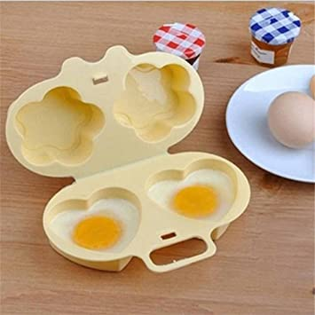 Amazon.com: Unmengii Egg Poacher New Heart&Flowers Steamer ...