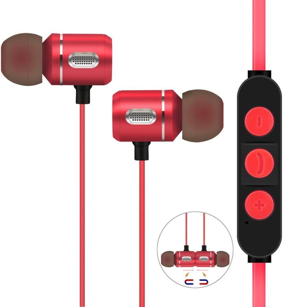 Pandaie in-Ear Headphone Earphone Wireless Headphones Bluetooth 4.1 Stereo Sports Earbuds Magnetic Headset Mic RD for iPhone 5 5s se 6 6s Plus 7 8 X
