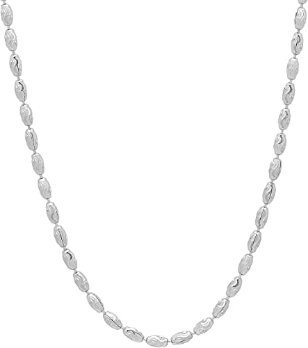 Sterling Silver 2.2 mm Polished Bead Ball Chain Necklace /& Bracelet Made in Italy