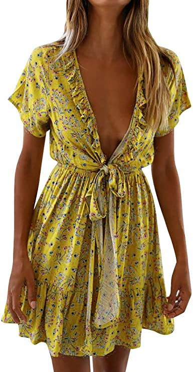 ashop_01 Vestidos Mujer, ASHOP Cintura Alta Estampado Floral ...