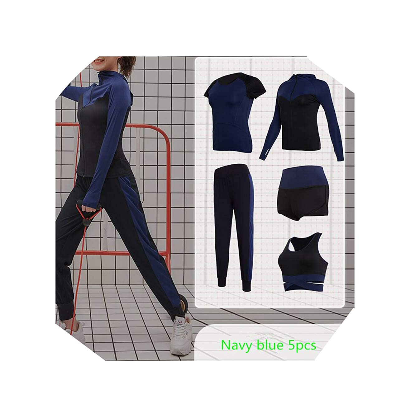 Bats 4376 WBeauty Women's Yoga Clothes Set Running Tights Sportswear Quick Dry