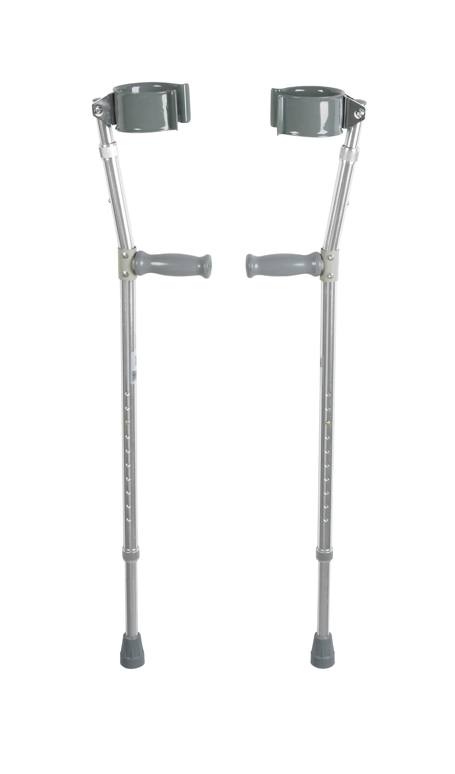 Drive Medical Forearm Crutch, Chrome, Bariatric (1-Pair)