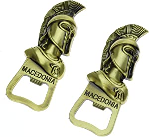 Novelty Metal Magnetic Beer Bottle Opener, Powerful Fridge Magnets Party Beer Tool Fun Unique Gifts For Men - Cool Beer Gifts 2pcs Set By Wincspace (gold)