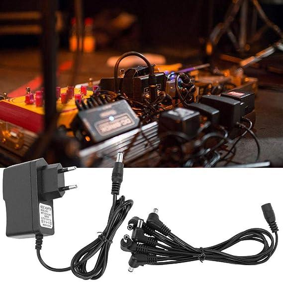 Pedal de Efectos de Guitarra Profesional 9V Adaptador 100-240V Fafeims Adaptador de Corriente
