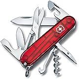 Victorinox 1.3703.T Couteau 10 P Rouge Translucide