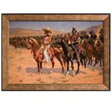 wall26 - The Mexican Major (The Wild West or The Troops) by Frederic Remington - Framed Art Prints, Home Decor - 24x36 inches