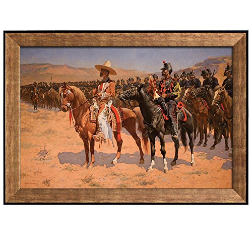 The Mexican Major (The Wild West or The Troops) by Frederic Remington Framed Art