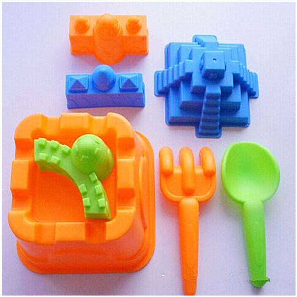Minibaby 8pcs/set Toy Sand Mold by Urmydear The Best Gift for International Children's Day(Colors May Be Random)