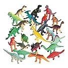 Vinyl Dinosaurs, Realistic Dinosaur Figures, Mini Dinosaur Toys - 72 Pieces