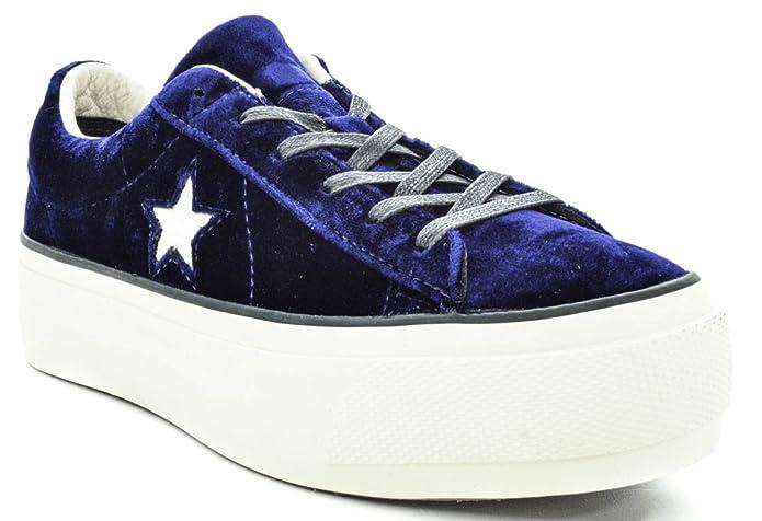 Converse Damen Gymnastikschuhe, Blau Blau Größe: 40