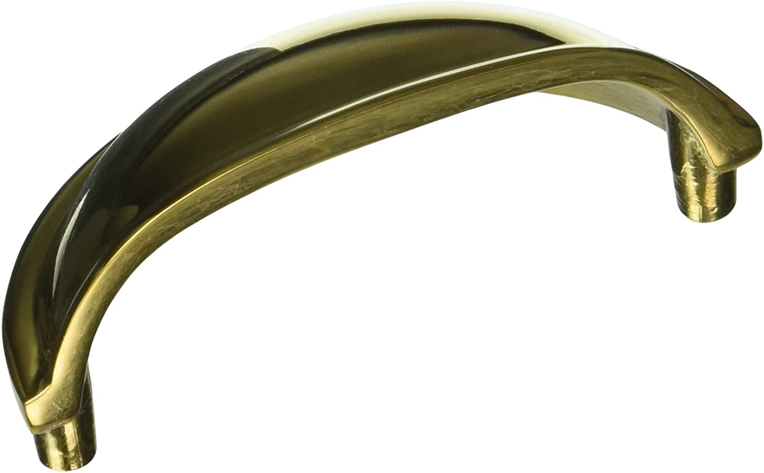 Deltana K43U15 Solid Brass 3 1//2-Inch Oval Shell Handle Pull
