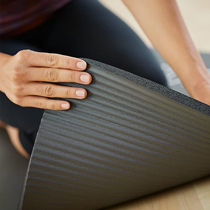 0.6 inch Graphite 15 mm STOTT Pilates Deluxe Pilates Mat with Grommets