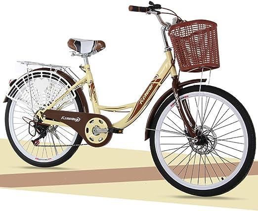 Bicicleta Unisex 24 Pulgadas Acero de Alto Carbono Velocidad única ...