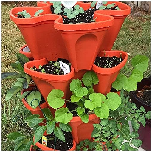 Large Vertical Gardening Stackable Planters By Mr Stacky Grow