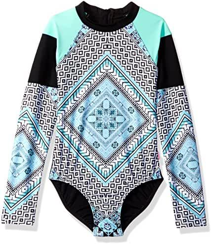 Seafolly Big Girls' Aztec Tapestry L/s Surf Tank