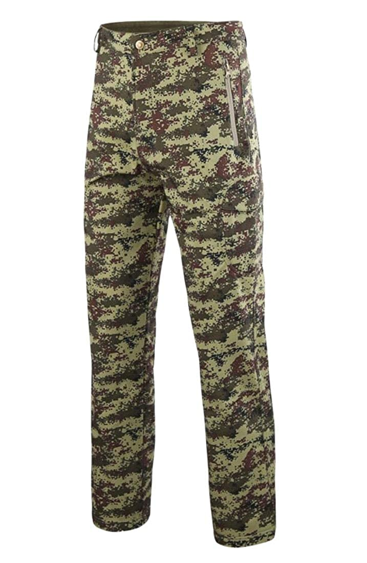 Alion Mens Water Resistant Pants Relaxed Fit Tactical Combat Army Cargo Pants with Multi Pocket