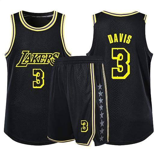 Anthony Davis # 3 Lakers Baloncesto Sin Mangas Clásico Bordado ...
