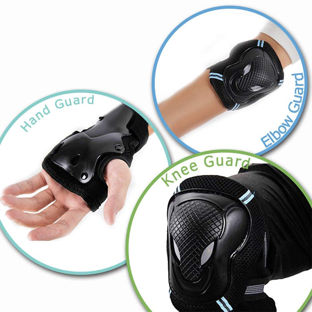 XQxiqi689sy Hot 7Pcs Outdoor Children Skating Helmet Knee Elbow Wrist Pads Protective Guard Set Protective Gear