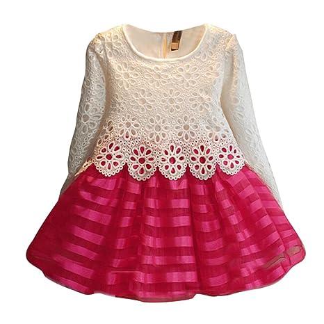 Niñas Vestidos de Encaje - Moda Fiesta Bodas Princesa ...