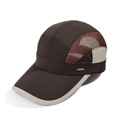861962af16f Unisex Quick Dry Mesh Outdoor Baseball Sun Cap UPF 50+ Running Hiking Golf  Cap Coffee
