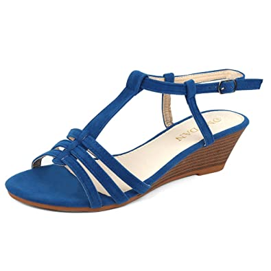 84ea4ca73a355 MuDan Mu Dan Womens Shoe Suede Wedge Sandal (7 B(M) US, Royal Blue ...