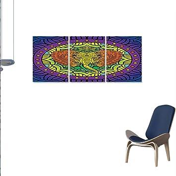 Amazonsmllmoondecor アニマル壁絵画 可愛いリピート魚のパターン 海の