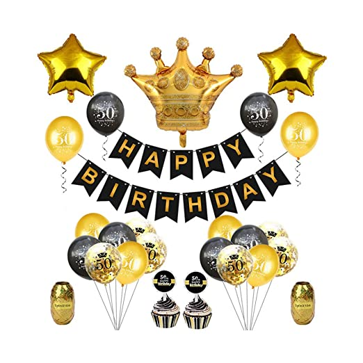 qin-er Balloons Fiesta de cumpleaños de Globos de Confeti de látex ...