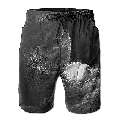 Men's Shorts Swim Beach Trunk Summer Chimpanzee Dad Baby Casual Fashion Shorts With Pockets