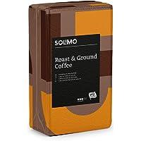 Marca Amazon - Solimo Café molido compatible con todos los usos - certificado UTZ, 2 kg (4 x 500g)