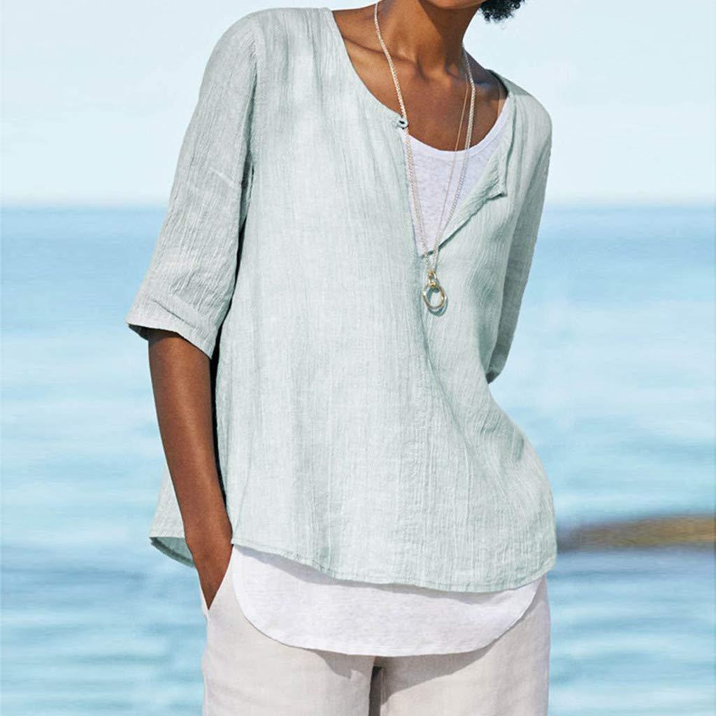 Amazon.com: Camiseta de verano EDC 2019 de lino liso y ...