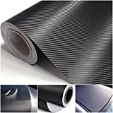 "Search : 1-Sheet Luxurious Unique 3D Carbon Fiber Stickers Roll Decor Wrap Labtop Cover Luggage Hoverboard Mac Apple Laptop Decal Macbook Window Home Art Wall Patches Vinyl Sticker Size 20""x50"" Color Black"
