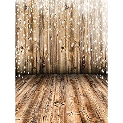 Allenjoy 5x7ft Photography Backdrop wood Wooden Wall and Floor bokeh dot newborn background props photocall photobooth photo studio
