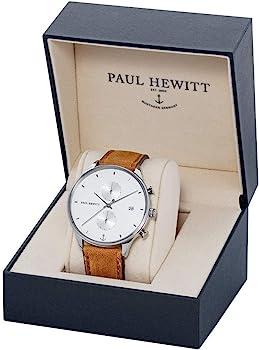 Uhr C S Quarz Leder W Hewitt Chronograph Armband Mit Ppaul Ph Herren 80nmwvN
