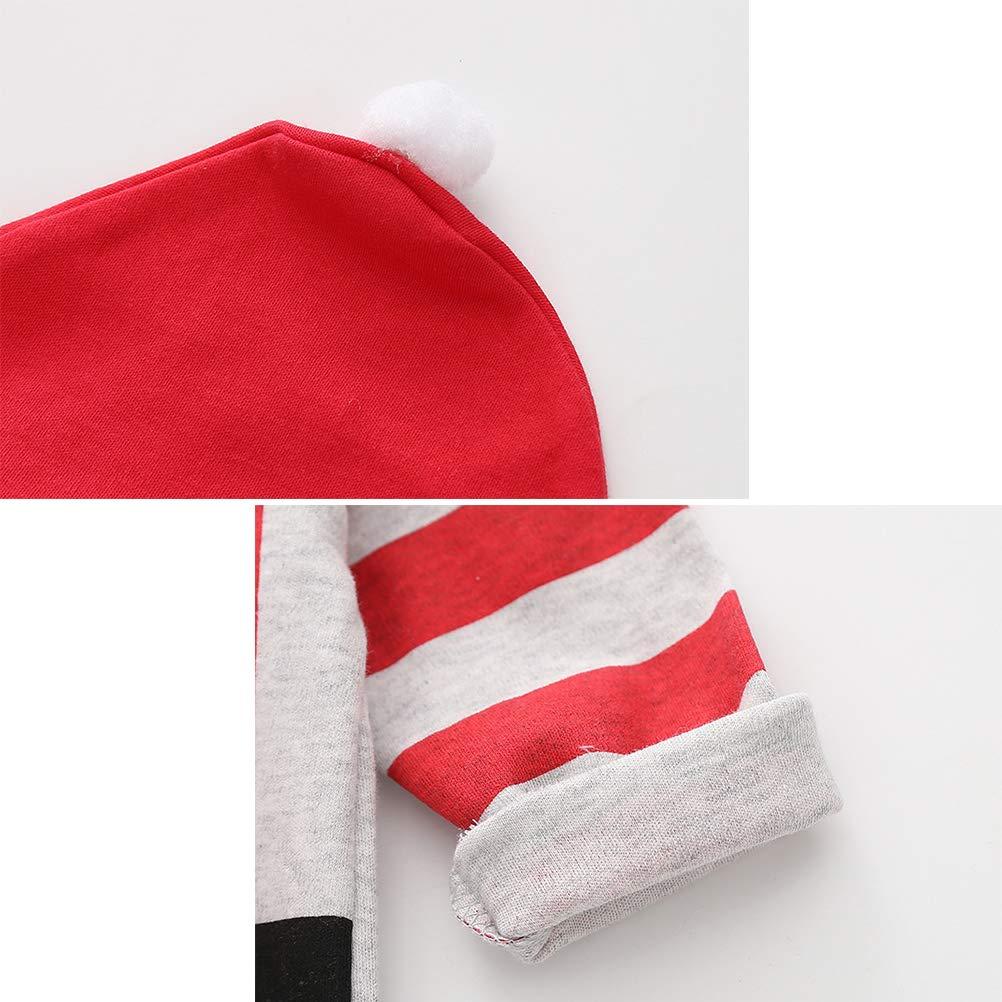 092f604c3781b BESTOYARD Bébé père noël Costume Barboteuse de noël Chapeau Coton  Combinaison de Noël Costumes Infantile à Manches Longues Costumes pour Tout- Petit ...