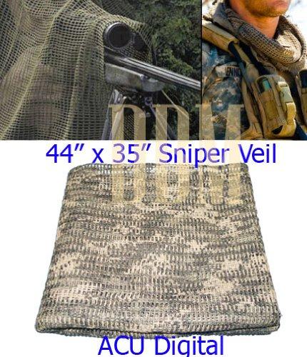 Sniper Veil Scarf Net Face Veil Blinds Camouflage Cover ACU Digital