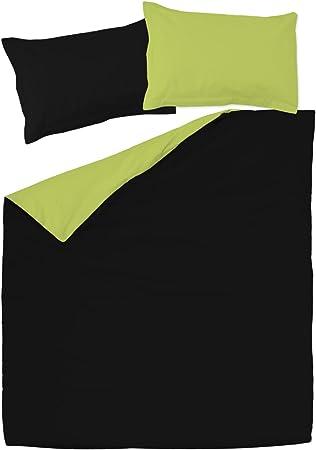 Copripiumino 200x200.Soulbedroom Nero E Verde 100 Cotone Biancheria Da Letto