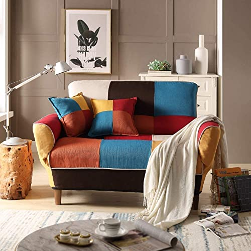 Merax Contemporary Multicolor Loveseat Adjustable Split Back Futon Upholstered Foldable Sofa Couch Sleeper Sofa Bed - the best living room sofa for the money