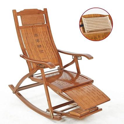 Amazon.com: Mecedoras de madera reclinables ajustables con ...