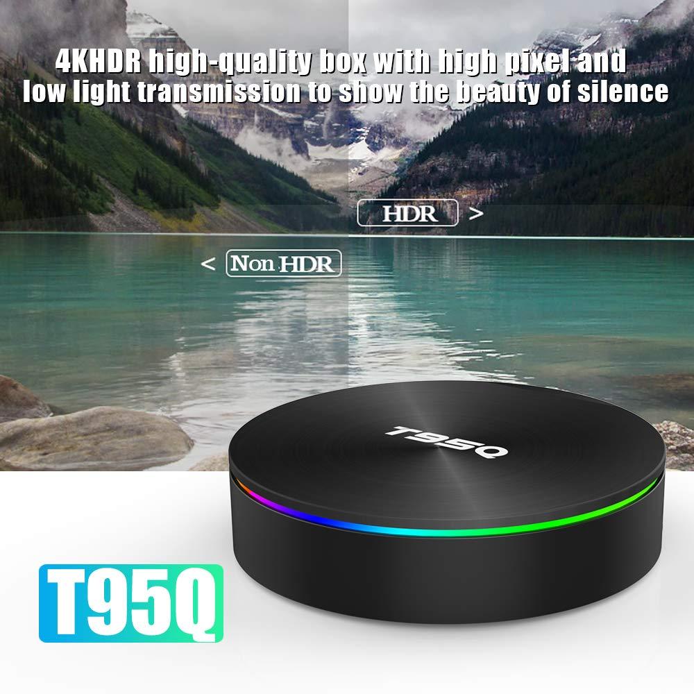 Sofobod T95Q TV Box Android 9.0 4GB RAM 64GB ROM EINWEG HD 4K 3D USB3.0 Dual WiFi 2.4G//5G BT4.0 TV Box Quadcore tv Box H.265 Decoding