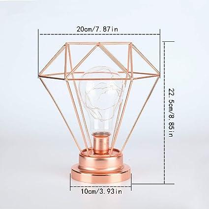 Amazon.com: Hellochina Lámpara de mesa LED con forma de ...