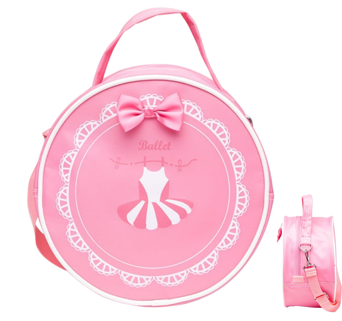 Girl's Dance Bag Shoulder Cross body Bag (Tutu Round Bag)
