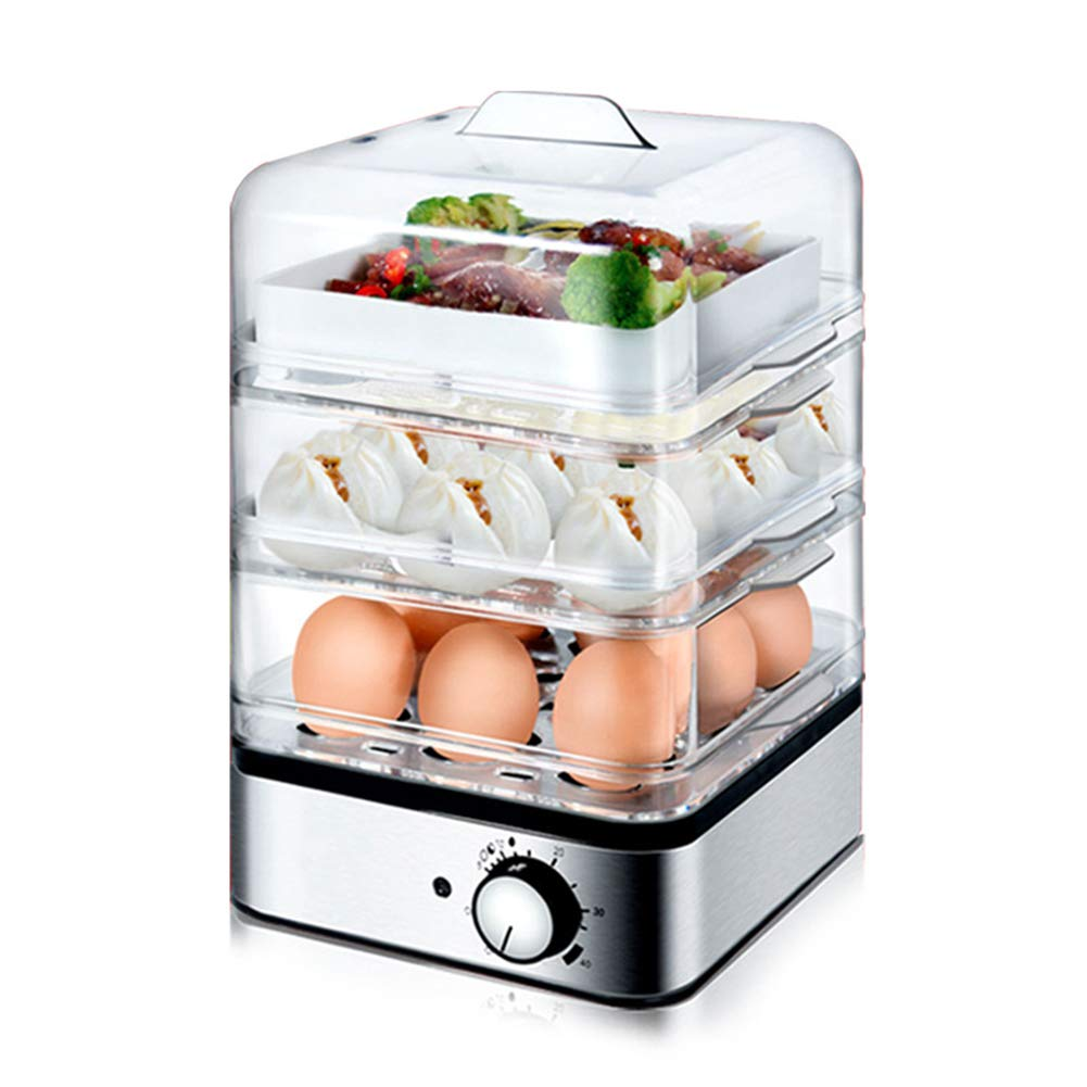 ZYJ Multifunction Egg Boilers, Egg Cooker Automatic Timing Egg Cooker Multi-Function Three-Layer Steamed Egg Cooker Cooking Kitchen Tool